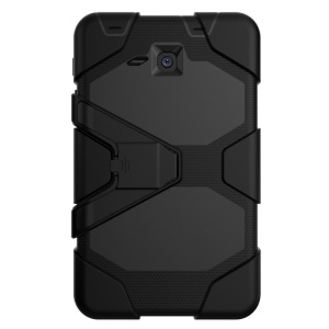 Military Duty PC Silicone Protection Case for Samsung Galaxy Tab A 7.0 T280 T285 with Kickstand - Black