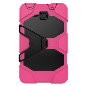 Military Duty PC Silicone Tablet Case for Samsung Galaxy Tab A 7.0 T280 T285 with Kickstand - Rose