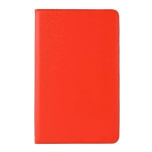Litchi Grain Rotary Stand Leather Flip Cover for Samsung Galaxy Tab A 10.1 (2016) T580 T585 - Red