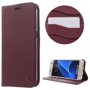 ROAR KOREA Only One Flip Case Leather Cover for Samsung Galaxy S7 G930 - Wine Red