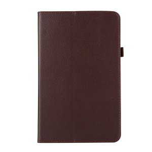 Smart Litchi Leather Cover for Samsung Galaxy Tab A 10.1 (2016) T580 T585 - Brown