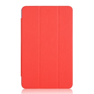 Toothpick Grain Tri-fold Stand Leather Case for Samsung Galaxy Tab A 10.1 (2016) T580 T585 - Red