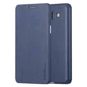 PIPILU X-LEVEL Fibcolor Series for Samsung Galaxy A5 SM-A500F Leather Cover - Dark Blue