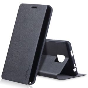 X-LEVEL Slim Folio Leather Stand Case for Samsung Galaxy Note Edge N915 - Black