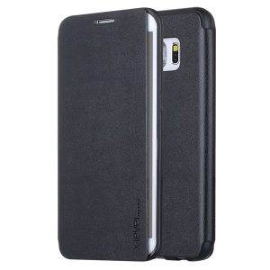 X-LEVEL Leather Phone Cover para Samsung Galaxy S6 edge+ G928 - negro