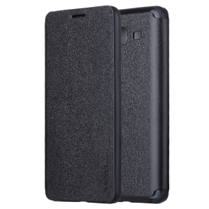 X-LEVEL FIB Color Slim Flip Leather Cover for Samsung Galaxy On5 - Black