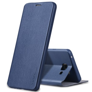 X-LEVEL Slim Leather Stand Phone Cover for Samsung Galaxy A5 SM-A510F (2016) - Dark Blue