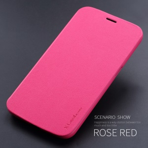 X-LEVEL Slim Folio Leather Stand Cover Case for Samsung Galaxy Mega 6.3 I9200 I9208 - Rose