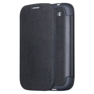 X-LEVEL Slim Folio Leather Stand Case for Samsung Galaxy S3 I9300 - Black