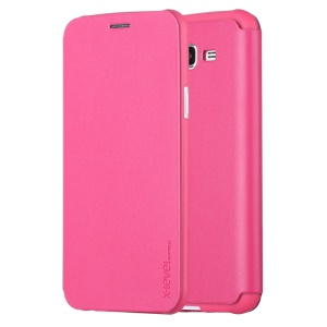 X-LEVEL Leather Flip Phone Shell for Samsung Galaxy J5 SM-J500F - Rose