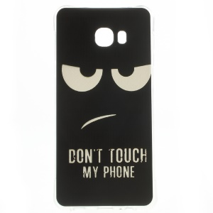 Air Cushion Drop-proof TPU Cover for Samsung Galaxy C7 - Do Not Touch My Phone
