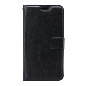Crazy Horse Wallet Leather Stand Case for Samsung Galaxy S7 Active - Black