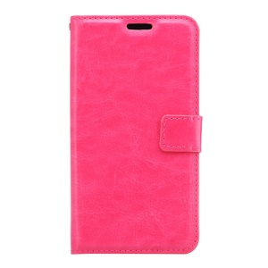 Crazy Horse Wallet Leather Phone Case for Samsung Galaxy S7 Active - Rose