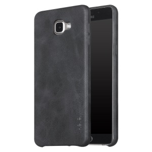 X-LEVEL Vintage Series Leather Coated Hard Case for Samsung Galaxy A9 (2016) - Black