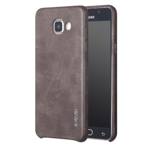 X-LEVEL Vintage Series Leather Coated Hard Cover Case for Samsung Galaxy A5 SM-A510F (2016) - Coffee