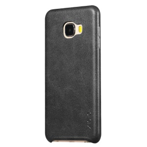 X-LEVEL Vintage Series Leather Coated Hard Case for Samsung Galaxy C7 - Black