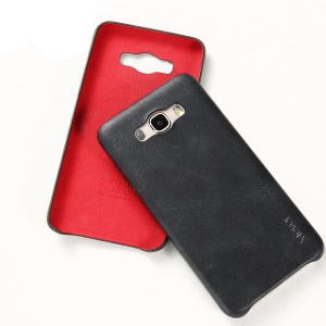 X-LEVEL Vintage Series Leather Coated Hard Case for Samsung Galaxy J7 (2016) - Black