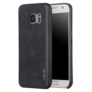 X-LEVEL Vintage Series Leather Coated Hard Case for Samsung Galaxy S7 G930 - Black