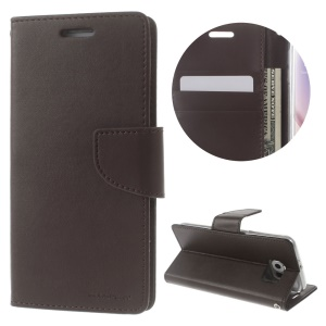 MERCURY GOOSPERY Bravo Diary for Samsung Galaxy S6 G920 Leather Wallet Stand Shell - Coffee