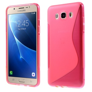 S Shape TPU Case Shell for Samsung Galaxy J7 (2016) - Rose