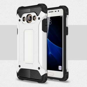 Armor PC TPU Phone Cover for Samsung Galaxy J3 Pro - White