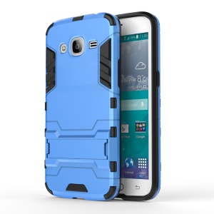 Solid PC + TPU Hybrid Case Shell with Kickstand for Samsung Galaxy J2 Pro / J2 (2016) - Baby Blue