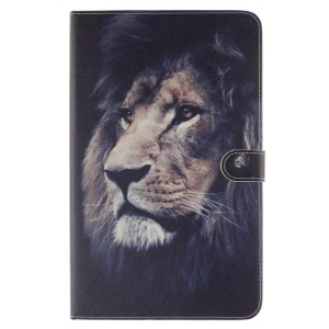Leather Wallet Stand Cover for Samsung Galaxy Tab A 10.1 (2016) T580 T585 - Lion