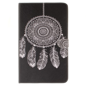 PU Leather Card Holder Case for Samsung Galaxy Tab A 10.1 (2016) T580 T585 - Mandala Dreamcatcher