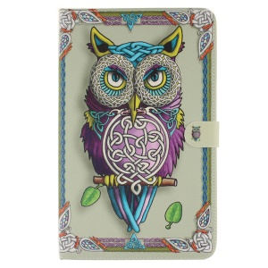 Flip Leather Case Tablet Cover for Samsung Galaxy Tab A 10.1 (2016) T580 T585 - Colorful Owl