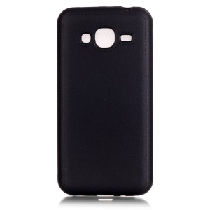 Leather Texture Protective TPU Cover for Samsung Galaxy J3 / J3 (2016) - Black