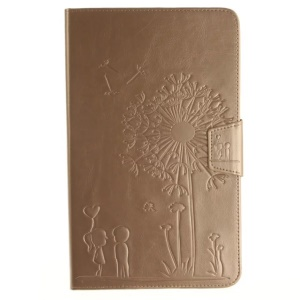 Dandelion and Lovers Leather Flip Case para Samsung Galaxy Tab A 10.1(2016) T580 T585 - ouro