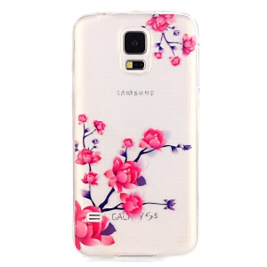 Soft IMD TPU Protective Case for Samsung Galaxy S5 G900 - Beautiful Flowers