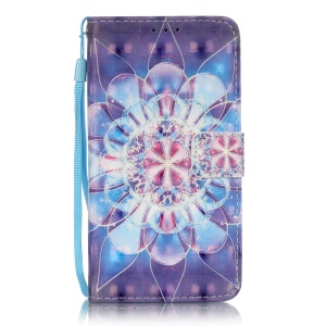 Wallet Leather Stand Cover for Samsung Galaxy Grand Prime SM-G530 - Mandala Flower