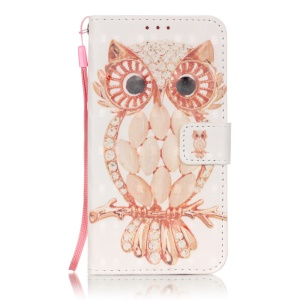 3D Printing Leather Phone Case for Samsung Galaxy J5 SM-J500F - Adorable Owl
