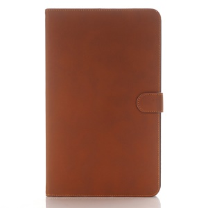For Samsung Galaxy Tab A 10.1 (2016) T580 T585 Stand Leather Protective Case - Brown