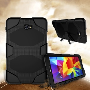 Heavy Duty Silicone PC Hybrid Case for Samsung Galaxy Tab A 10.1 (2016) T580 T585 - Black