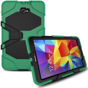 Heavy Duty Hybrid Silicone PC Case for Samsung Galaxy Tab A 10.1 (2016) T580 T585 - Army Green