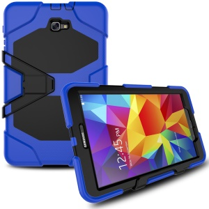 Military Duty Silicone PC Hybrid Shell for Samsung Galaxy Tab A 10.1 (2016) T580 T585 - Blue