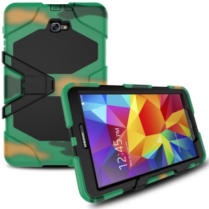 Military Duty Silicone PC Hybrid Cover for Samsung Galaxy Tab A 10.1 (2016) T580 T585 - Camouflage