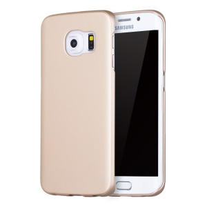 X-LEVEL Metallic PC Phone Case for Samsung Galaxy S6 edge G925 - Gold