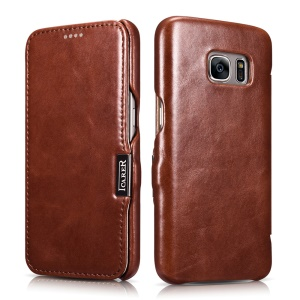 ICARER Vintage Genuine Leather Shell for Samsung Galaxy S7 G930 - Brown