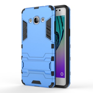 Solid PC + TPU Hybrid Cover Case with Kickstand for Samsung Galaxy J3 Pro - Baby Blue
