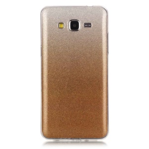 IMD Gradient Color Glitter Powder TPU Gel Case for Samsung Galaxy Grand Prime SM-G530 - Gold