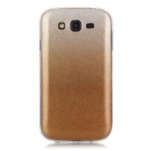 Glitter Powder Gradient Color IMD TPU Shell for Samsung Grand I9082 / Grand Neo I9060 - Gold