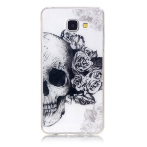 Clear IMD TPU Cover for Samsung Galaxy A3 SM-A310F (2016) - Skull with Roses