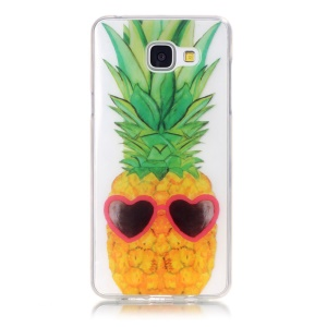 Clear IMD TPU Skin Case for Samsung Galaxy A3 SM-A310F (2016) - Pineapple and Heart Sunglasses