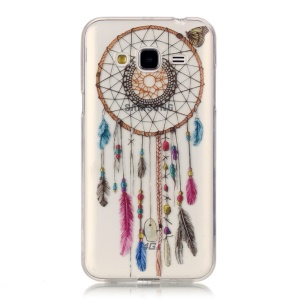 For Samsung Galaxy J3 (2016) IMD Patterned TPU Gel Phone Shell -  Dream Catcher and Butterfly