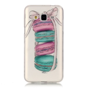For Samsung Galaxy J3 (2016)  IMD Patterned TPU Gel Back Phone Cover - Macarons
