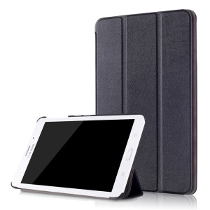 Tri-fold Stand Leather Case Cover for Samsung Galaxy Tab J 7.0 T285DY - Black