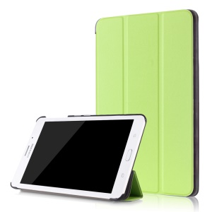 Tri-fold Leather Magnetic Flip Cover for Samsung Galaxy Tab J 7.0 T285DY - Green